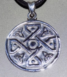 Sterling Silver Circular Celtic Cross Necklace