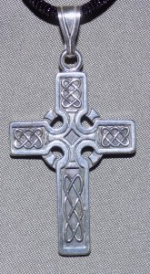 Sterling Silver Celtic Cross with Eternity Knots