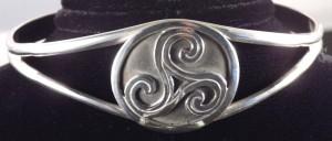 Celtic Triskele Knot Cuff Bracelet