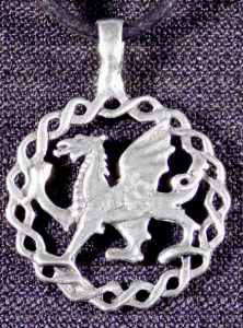 Celtic Welsh Dragon Necklace