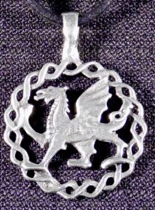 Celtic Welsh Dragon Necklace