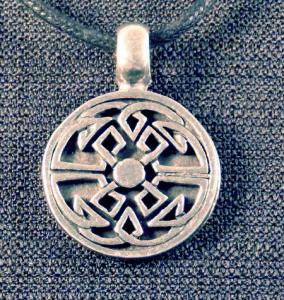 Celtic Round Tribal Knot Necklace