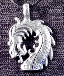 Dragon With Curved Neck Necklace