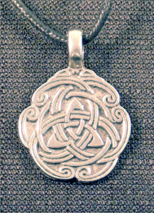 Circular Celtic Trinity Knot Necklace