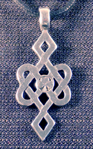 Celtic Infinity Knot with Shamrock Necklace